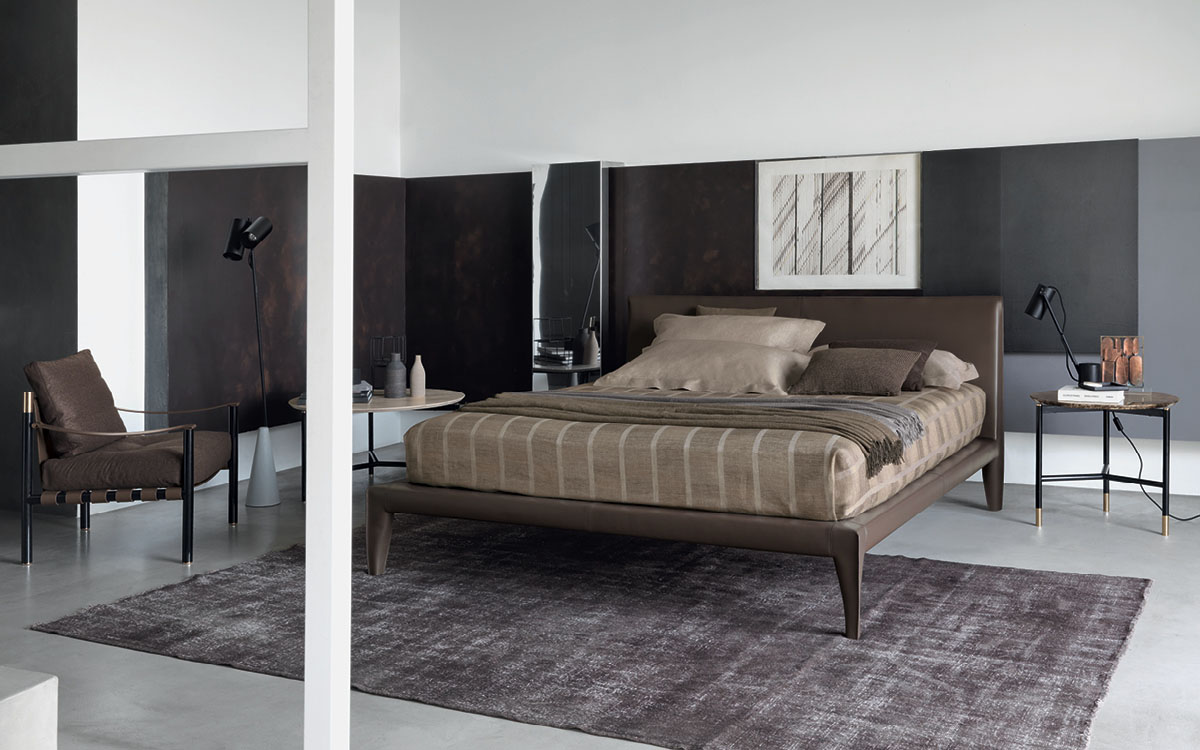 Flou bed alicudi for Letti di design outlet