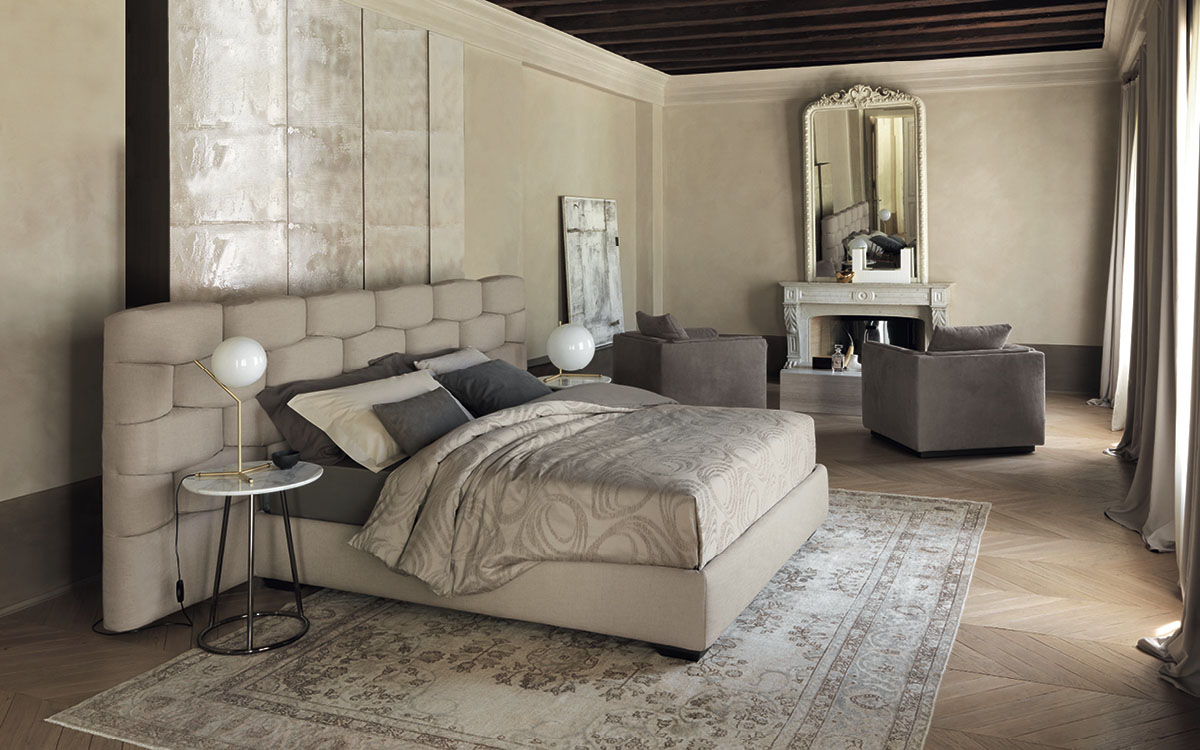Double bed majal testata larga flou - Camere da letto flou ...