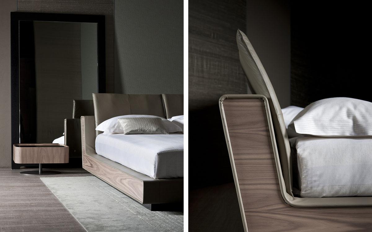 Flou letto sama bordo legno - Letto flou nathalie prezzo ...