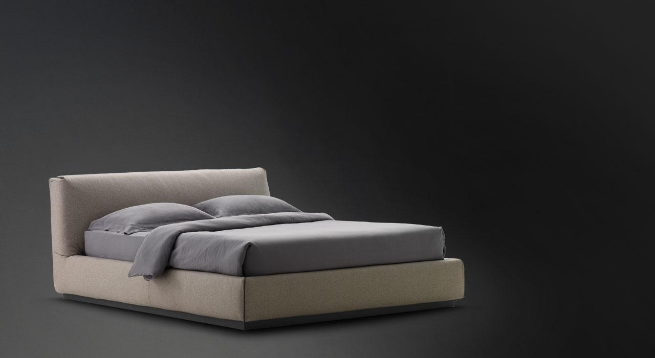 Double bed Gentleman Low headboard Flou