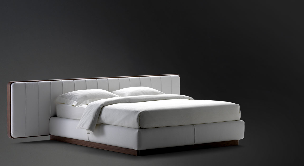 Flou Bed Ermes Low Headboard