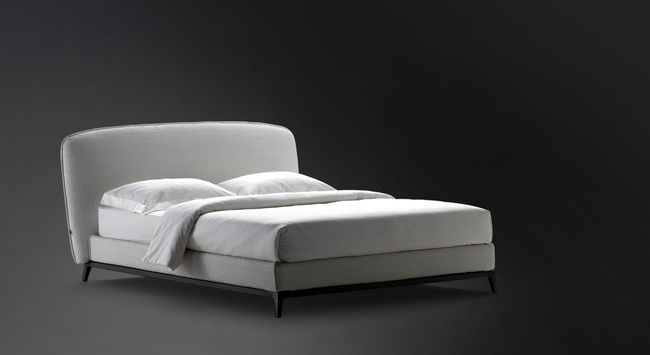 flou furniture. Double Bed Olivier Woven Leather Flou Furniture
