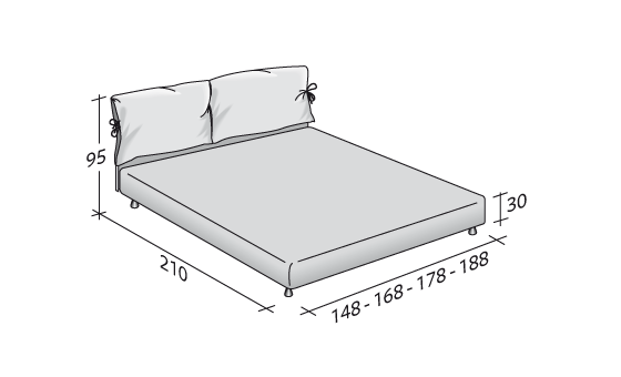 Flou bed - Nathalie Double