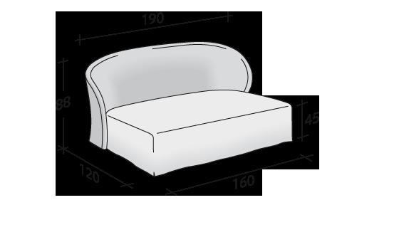 Flou letto céline divano